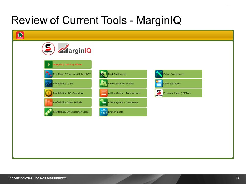 Review of Current Tools - MarginIQ