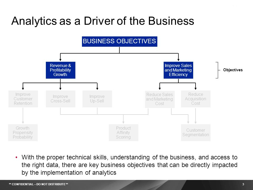Analytics as a Driver of the Business