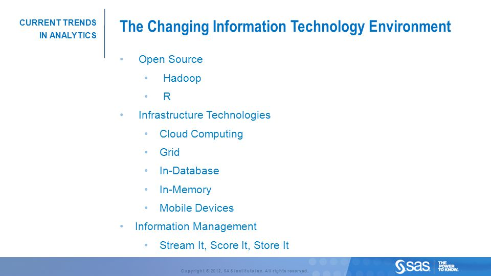 The Changing Information Technology Environment