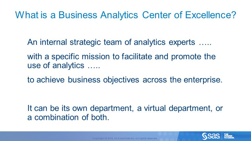 What is a Business Analytics Center of Excellence