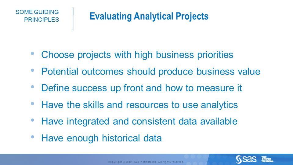 Evaluating Analytical Projects