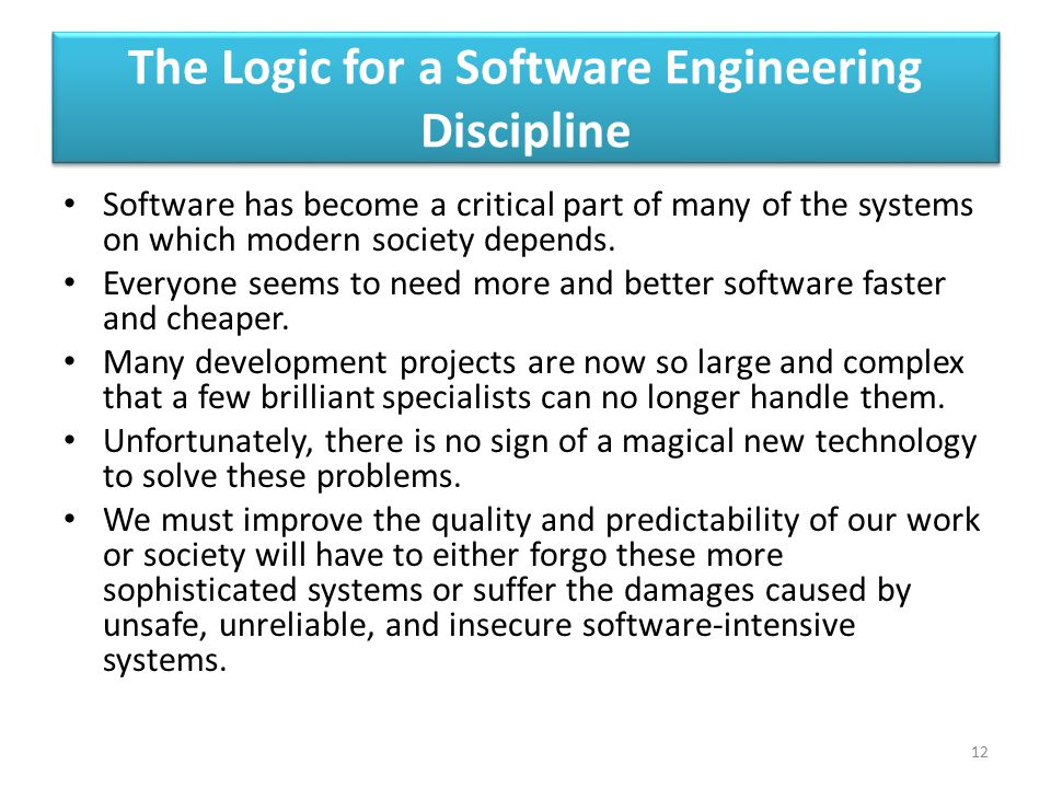 The Logic for a Software Engineering Discipline