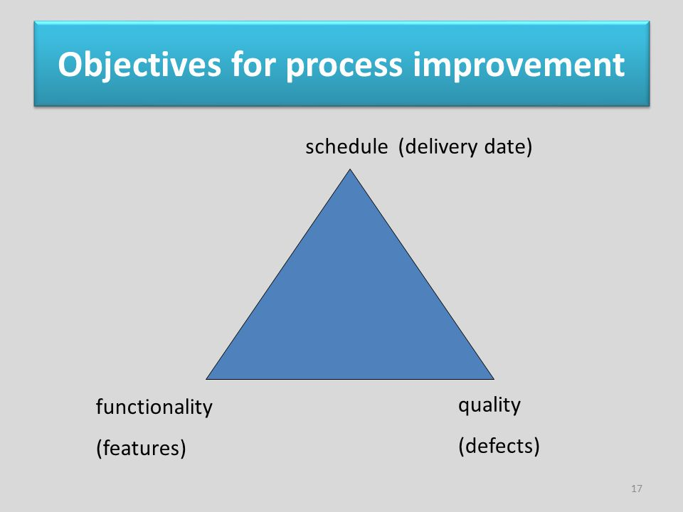 Objectives for process improvement