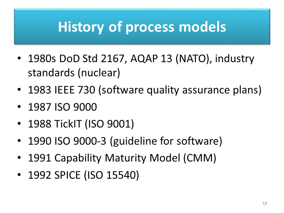 History of process models