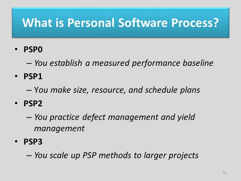 What is Personal Software Process