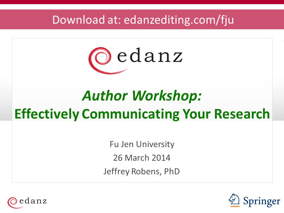 Effectively Communicating Your Research