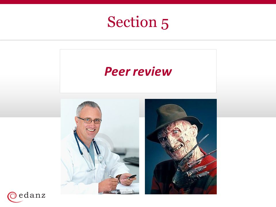 Section 5 Peer review