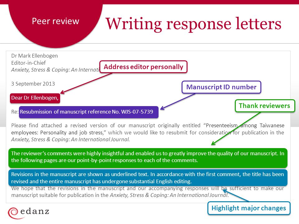 Writing response letters