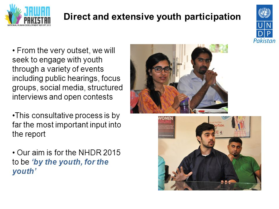 Direct and extensive youth participation