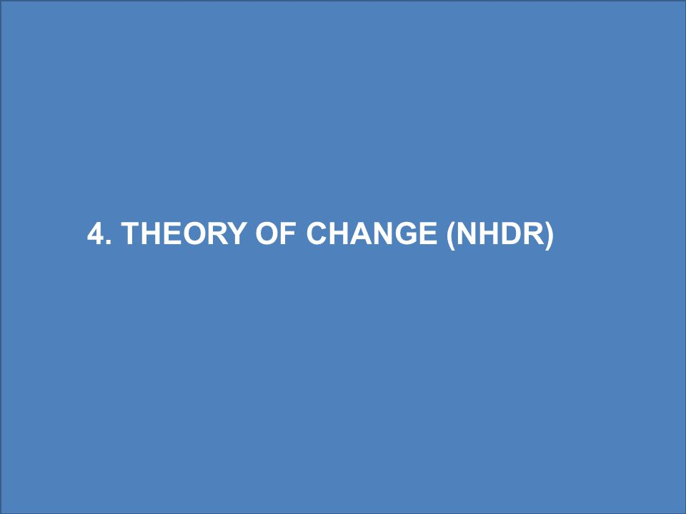 4. THEORY OF CHANGE (NHDR)