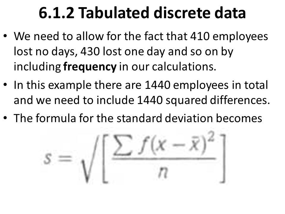 6.1.2 Tabulated discrete data