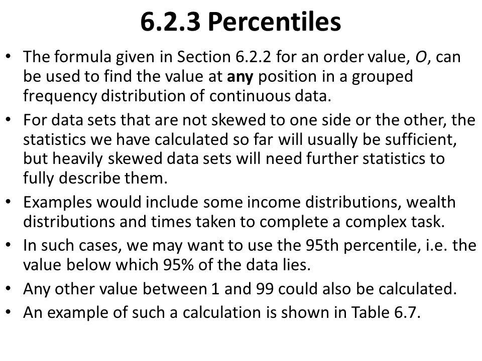6.2.3 Percentiles