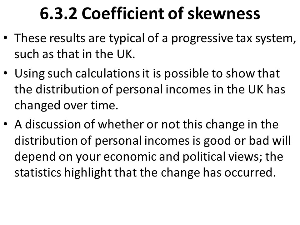 6.3.2 Coefficient of skewness
