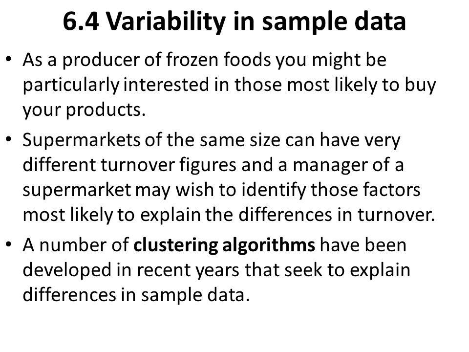6.4 Variability in sample data