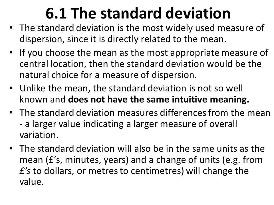 6.1 The standard deviation