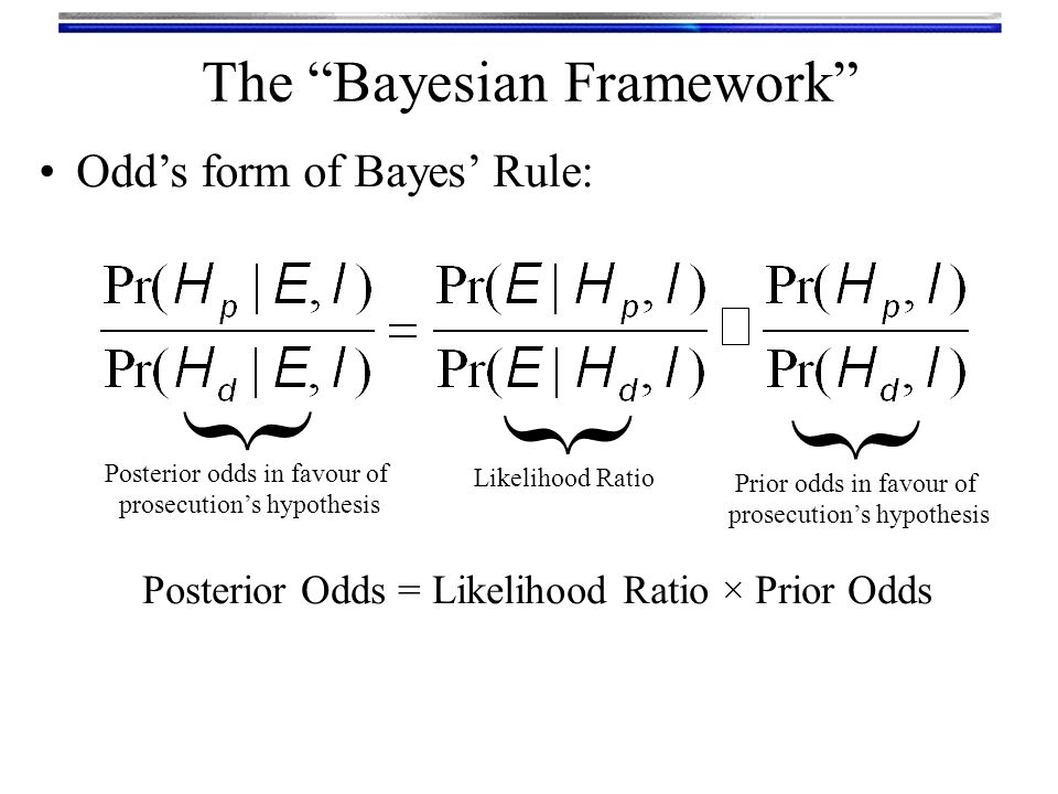 { { { The Bayesian Framework Odd's form of Bayes' Rule: