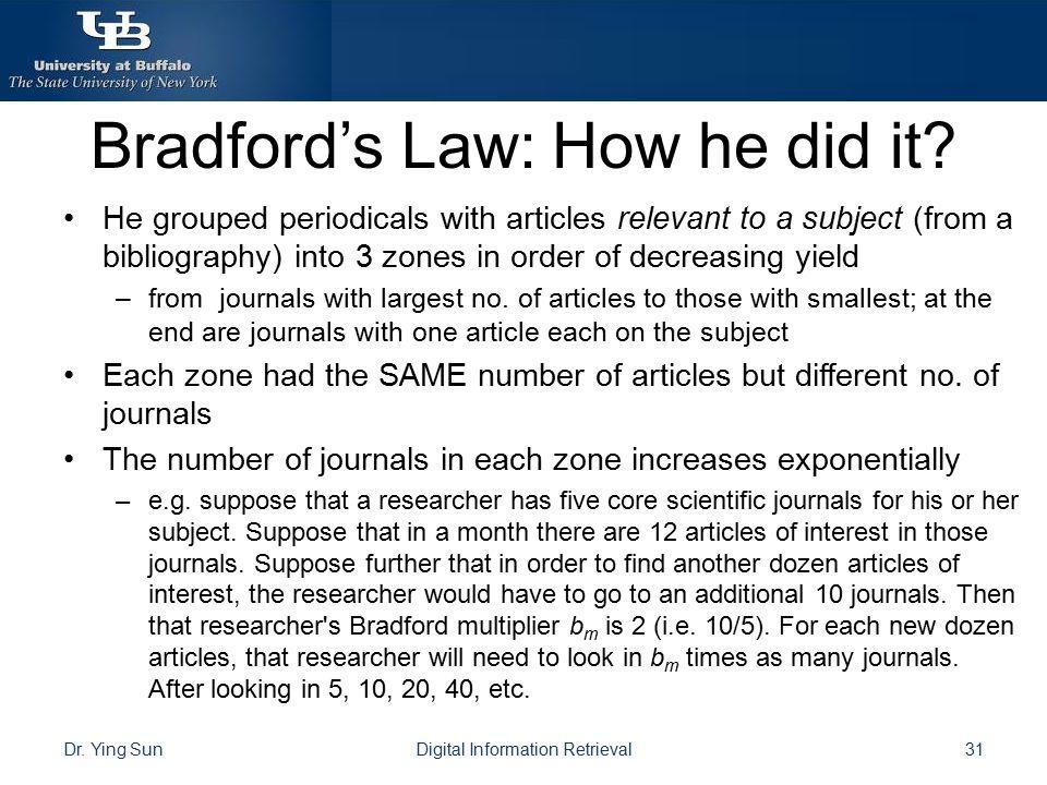 Bradford's Law: How he did it