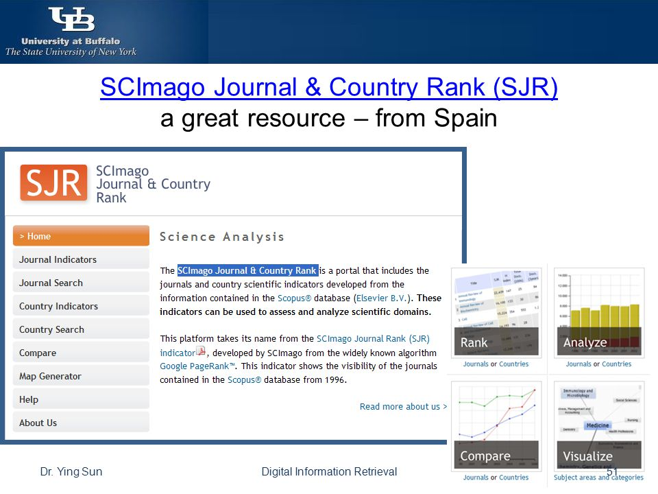 SCImago Journal & Country Rank (SJR) a great resource – from Spain
