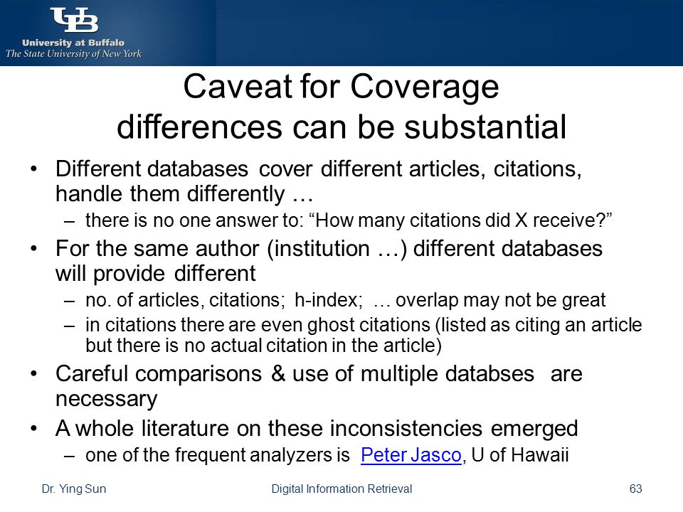 Caveat for Coverage differences can be substantial