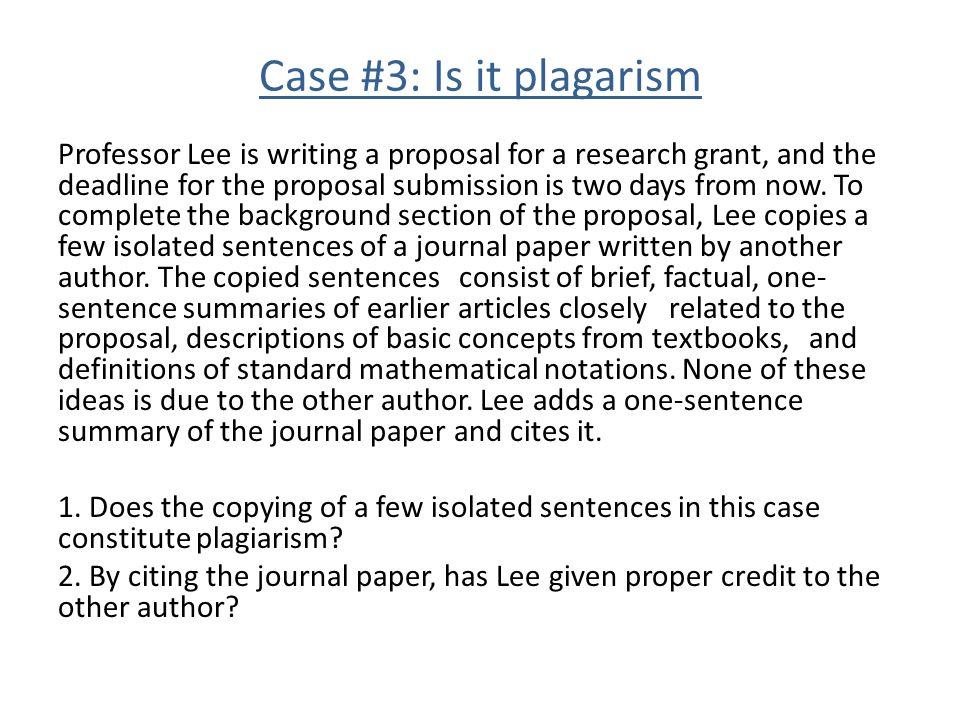 Case #3: Is it plagarism