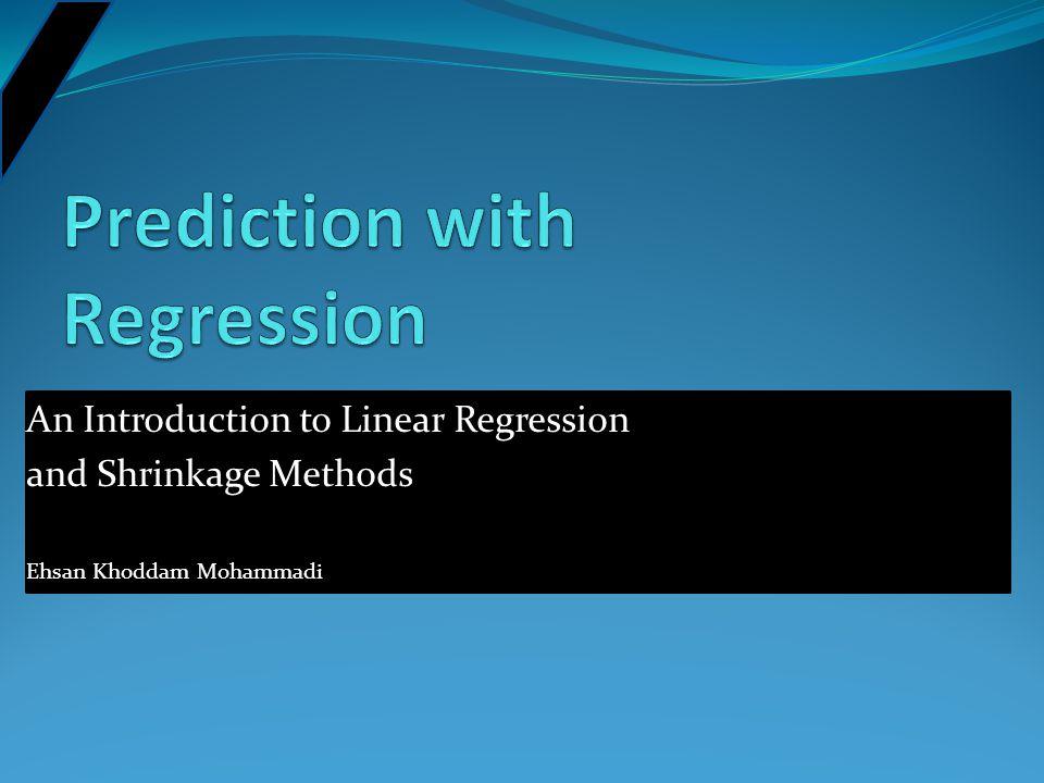 Prediction with Regression