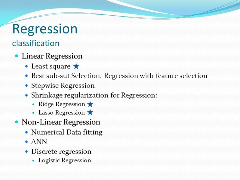 Regression classification