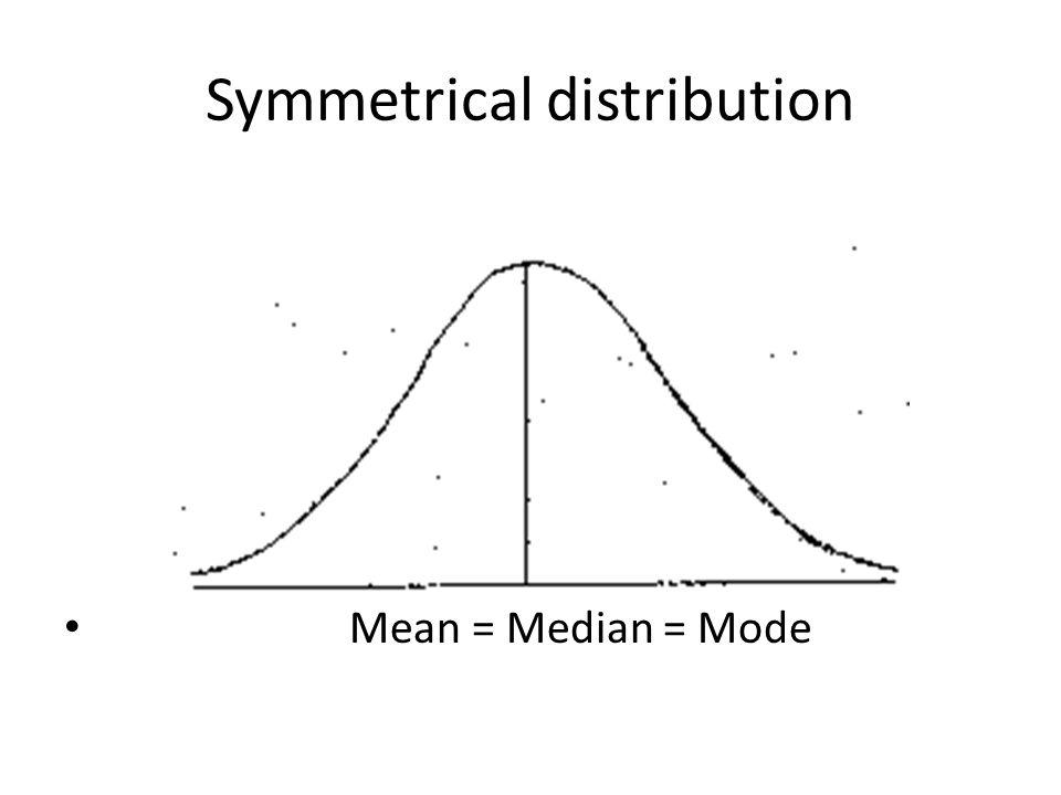 Symmetrical distribution