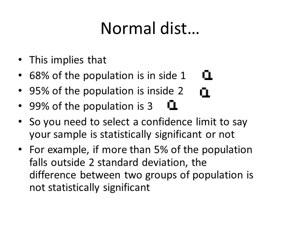 Normal dist… This implies that 68% of the population is in side 1
