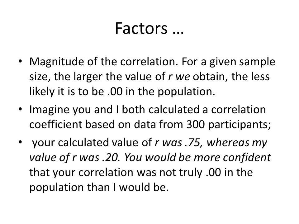 Factors …