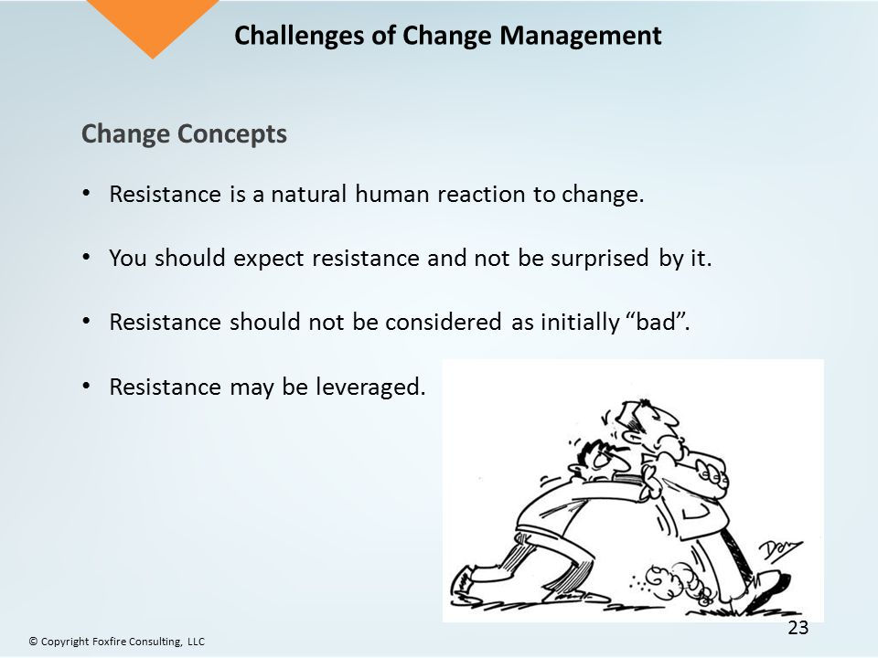 resistance a natural reaction to changes Management and workers need to recognize the different reactions to change and you must recognize and acknowledge your resistance are you resisting a change she quickly assumed objectivity thought an idea over carefully and if it had merit, she overcame her natural resistance.