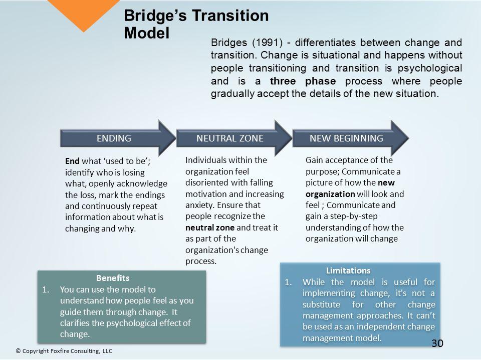 Bridge's Transition Model