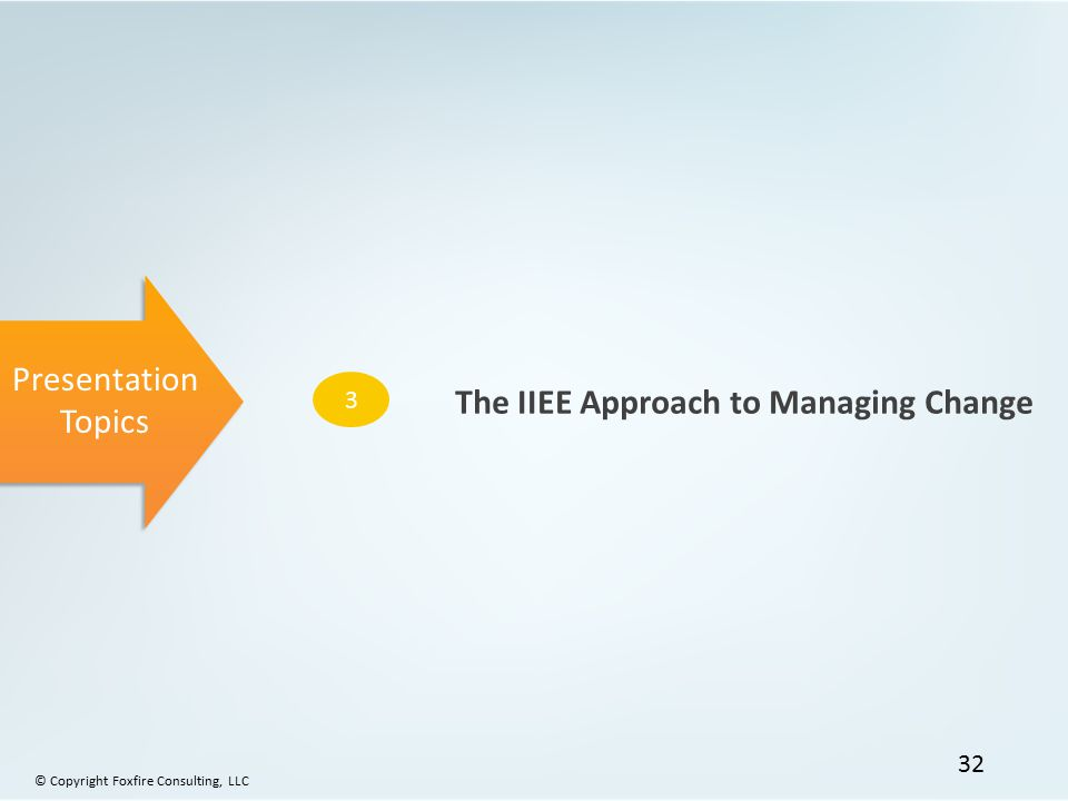 The IIEE Approach to Managing Change