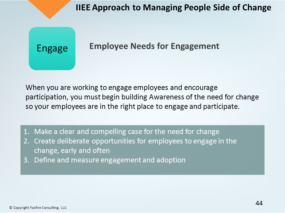Engage IIEE Approach to Managing People Side of Change