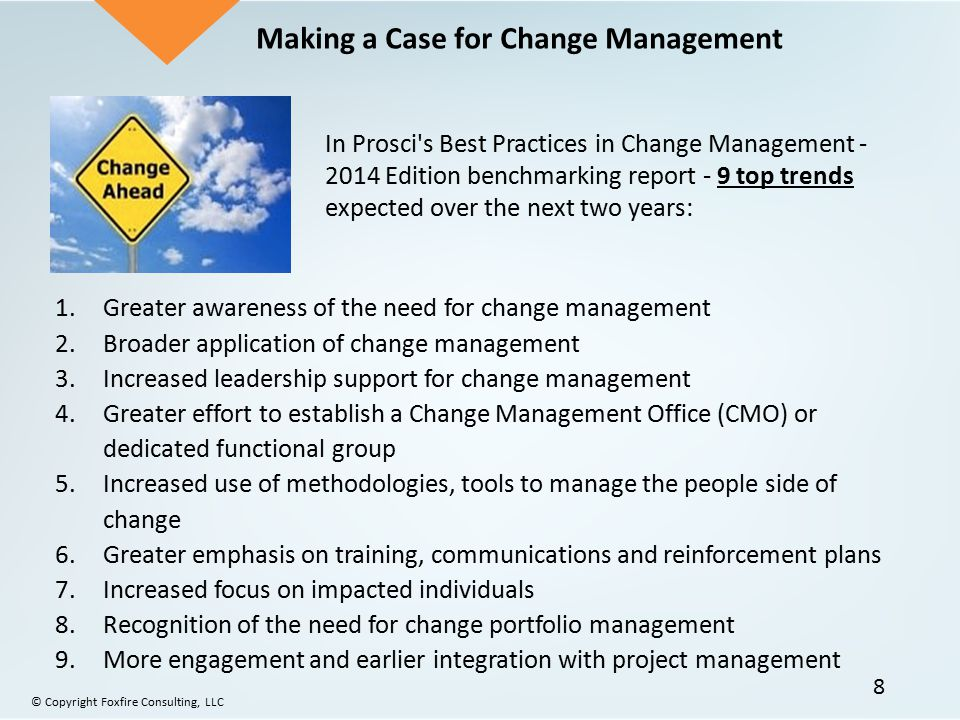 Making a Case for Change Management