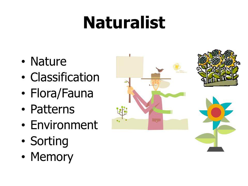 Naturalist Nature Classification Flora/Fauna Patterns Environment