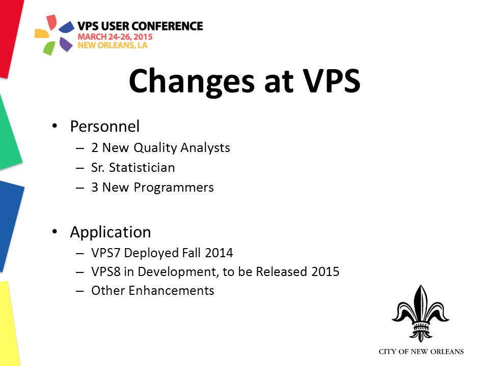 Changes at VPS Personnel Application 2 New Quality Analysts
