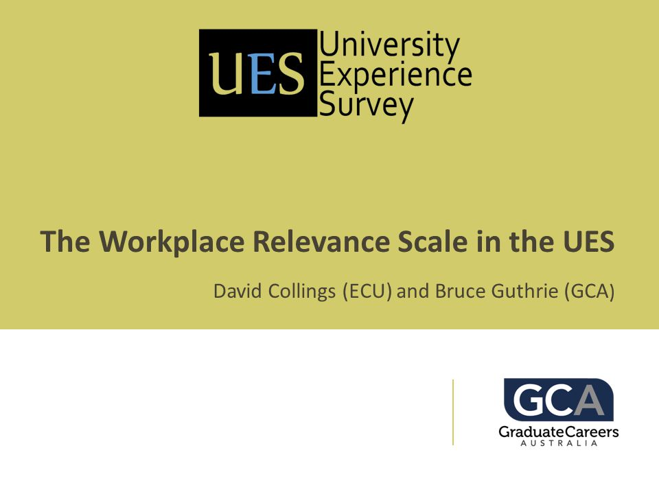The Workplace Relevance Scale in the UES