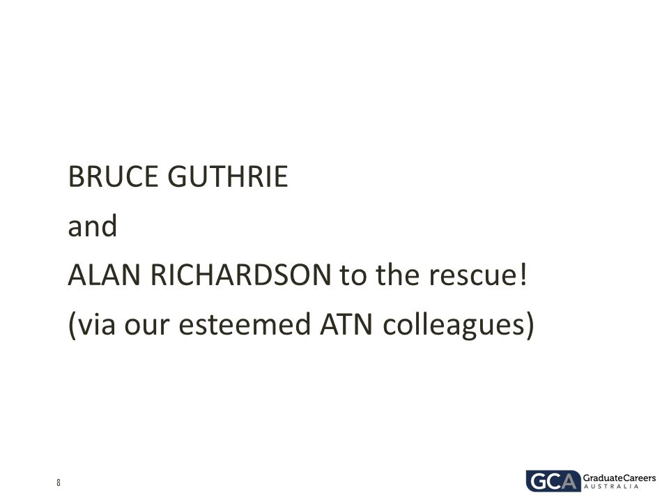 BRUCE GUTHRIE and ALAN RICHARDSON to the rescue! (via our esteemed ATN colleagues)