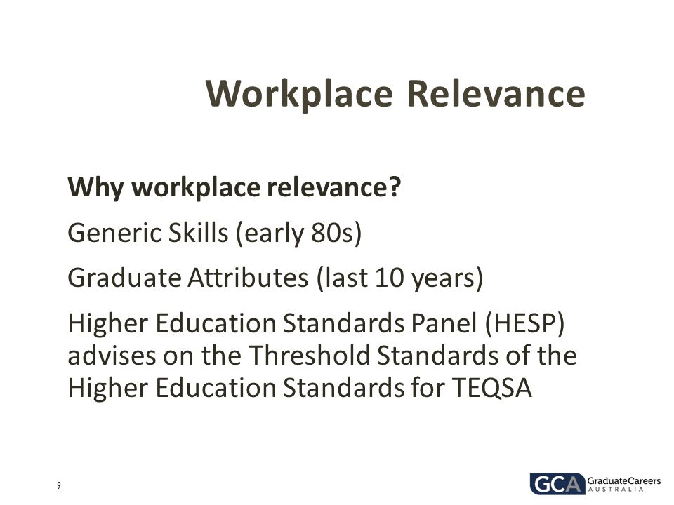 Workplace Relevance Why workplace relevance