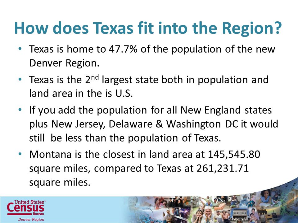 How does Texas fit into the Region