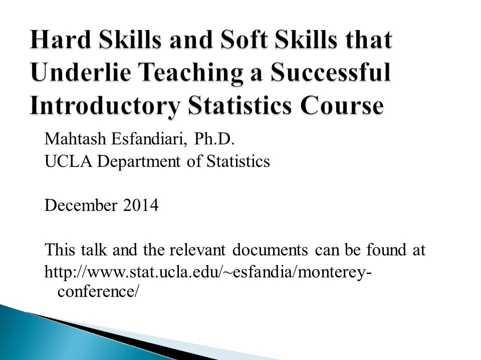 Hard Skills and Soft Skills that Underlie Teaching a Successful Introductory Statistics Course