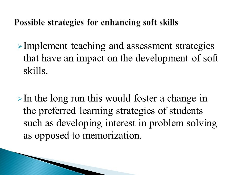 Possible strategies for enhancing soft skills