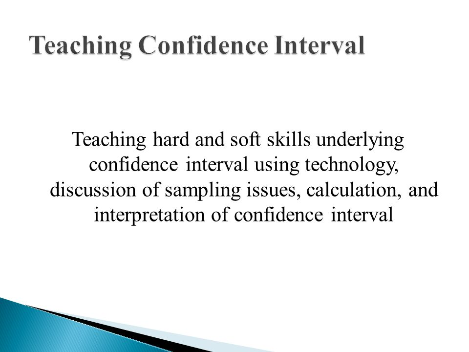 Teaching Confidence Interval