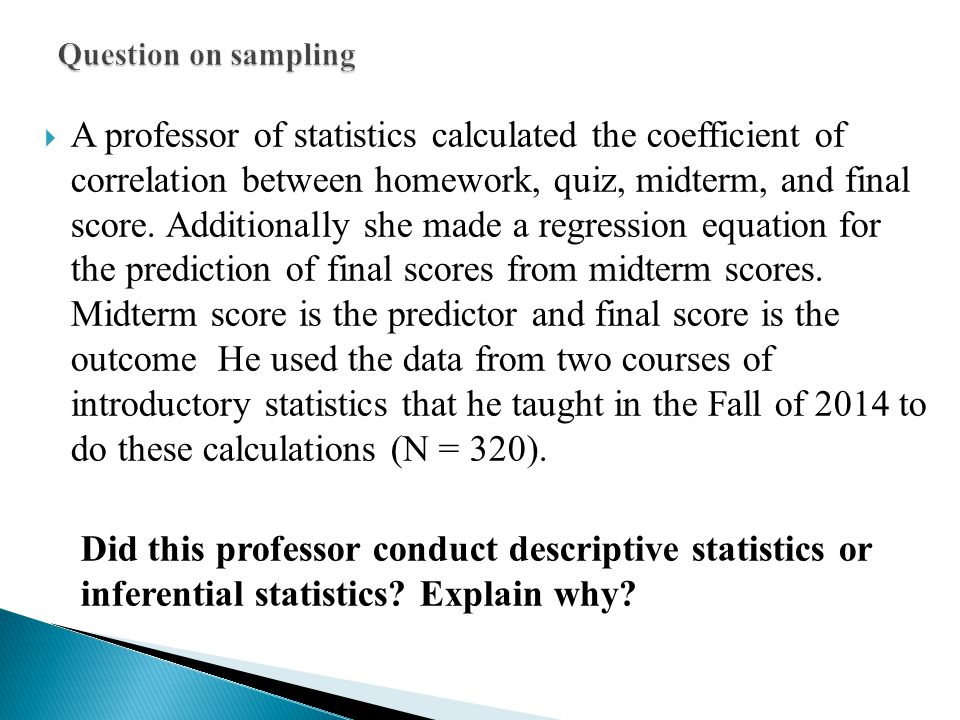 Question on sampling