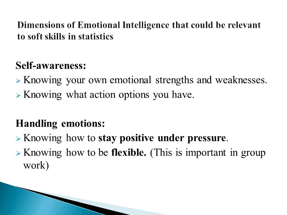 Knowing your own emotional strengths and weaknesses.