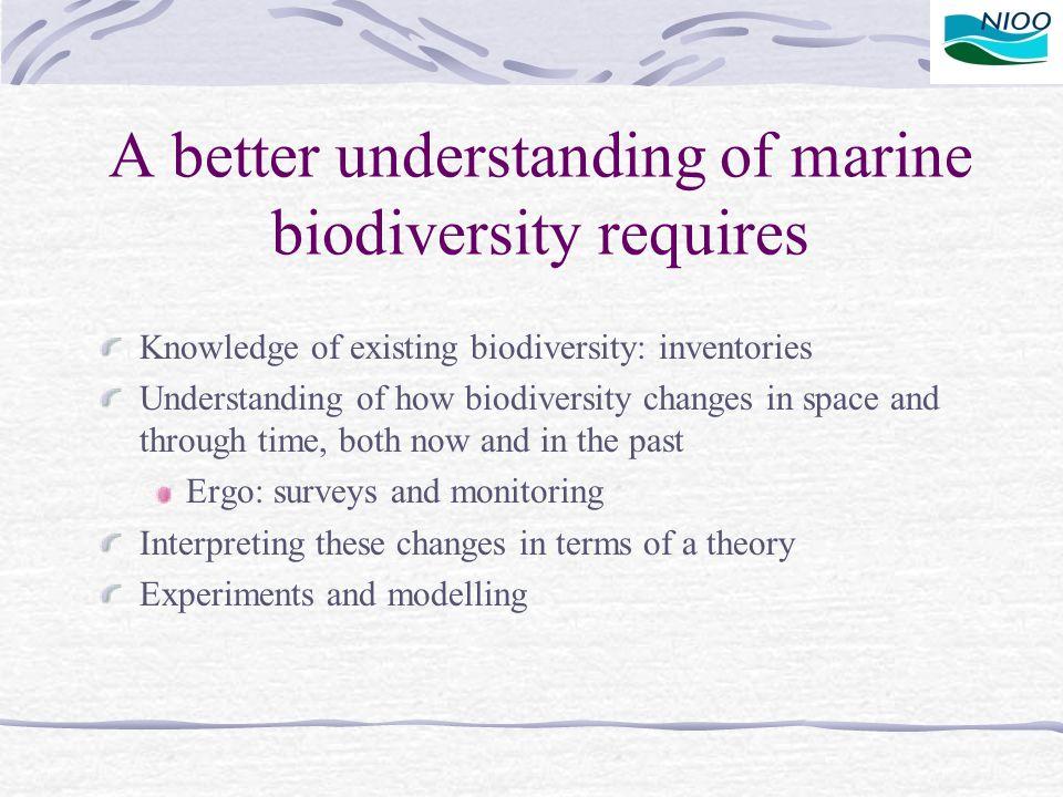 A better understanding of marine biodiversity requires