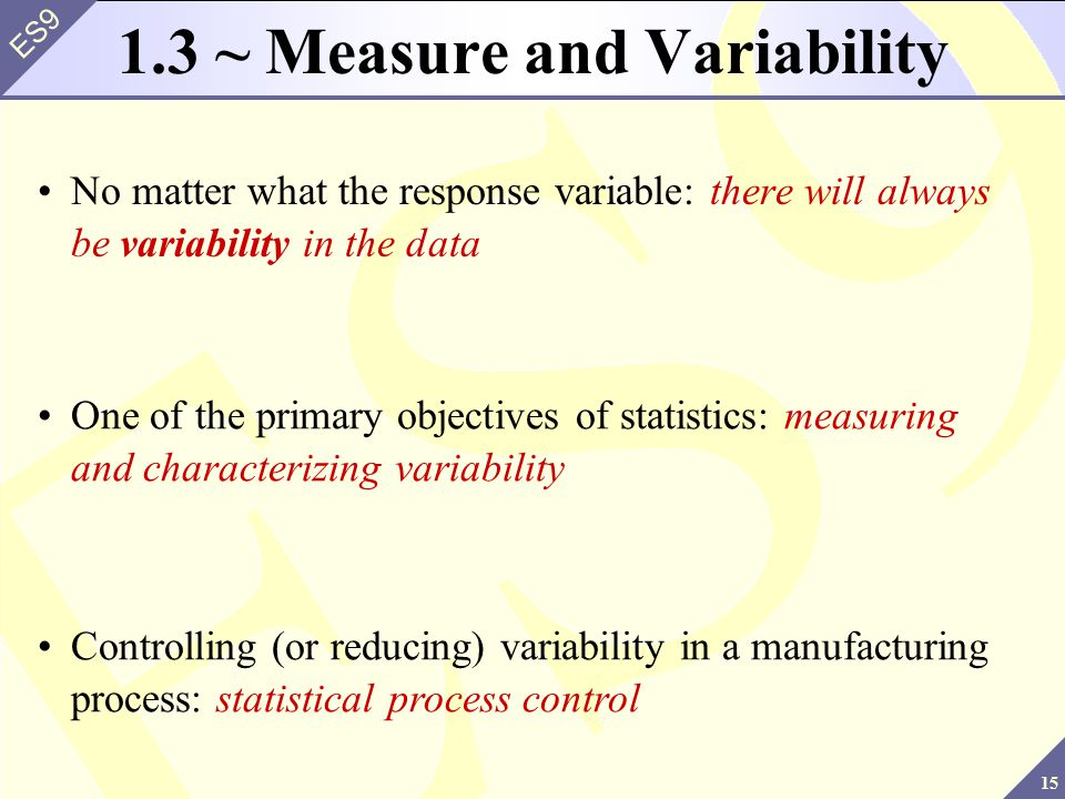 1.3 ~ Measure and Variability
