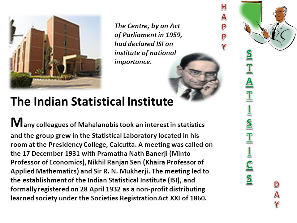 H A. P. Y. S. T. I. C. D. The Centre, by an Act of Parliament in 1959, had declared ISI an institute of national importance.
