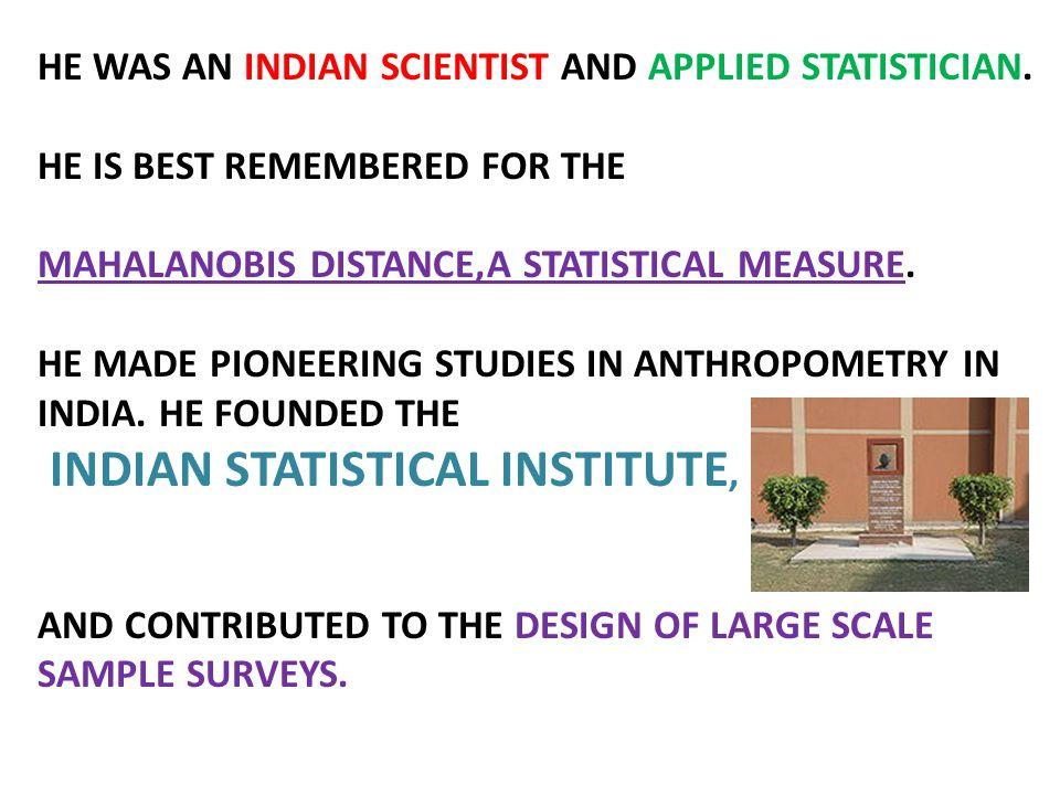 INDIAN STATISTICAL INSTITUTE,