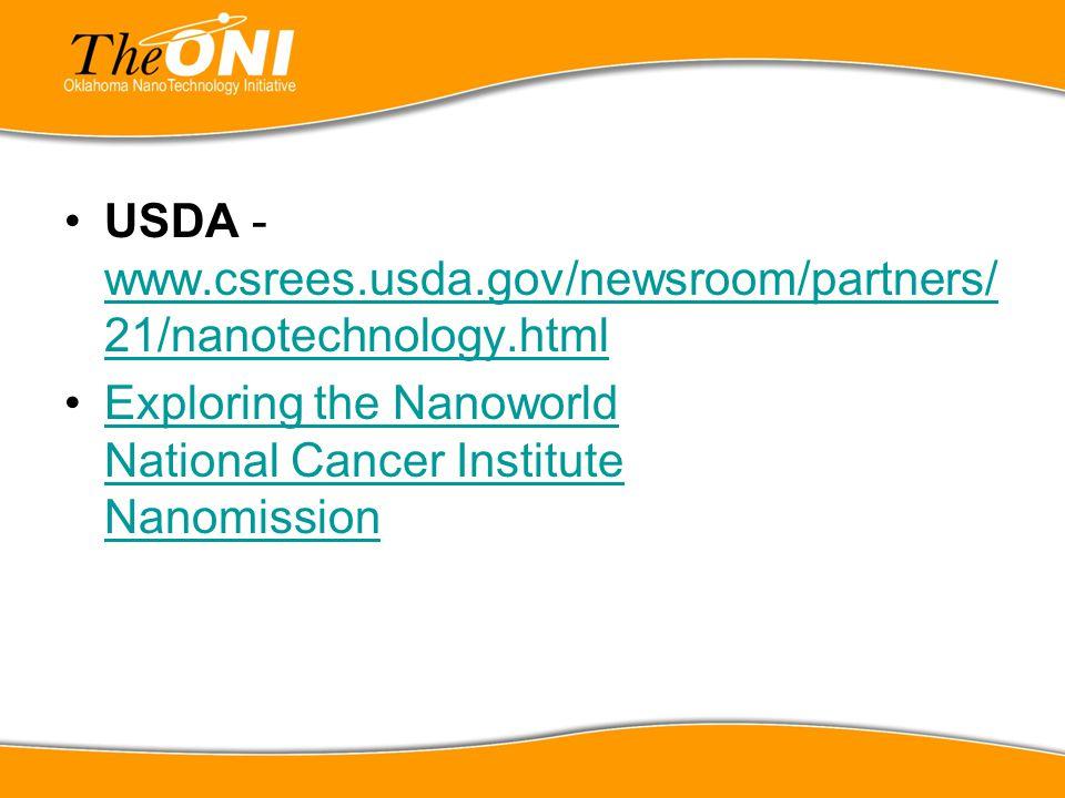 USDA - www.csrees.usda.gov/newsroom/partners/21/nanotechnology.html